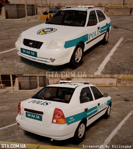 Hyundai Accent Admire Turkish Police [ELS]